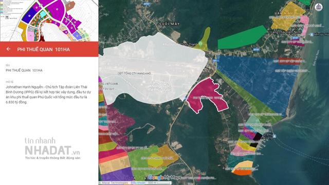 Khu vực quy hoạch dự án Khu phi thuế quan Phú Quốc.