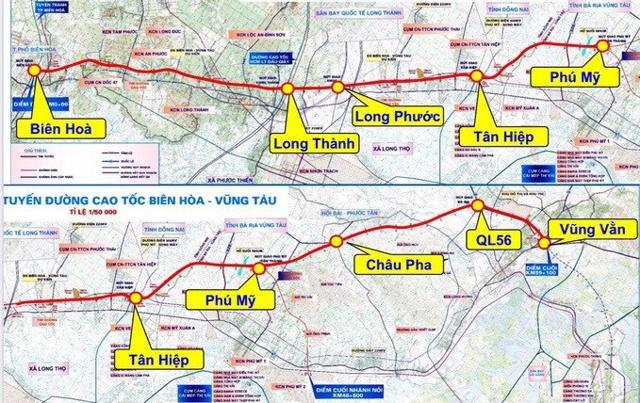 Cao tốc Biên Hoà - Vũng Tàu sẽ rút ngắn khoảng cách từ Vũng Tàu về TP.HCM và Đồng Nai