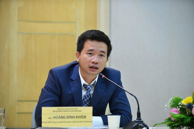 Ông Hoàng Đình Khiêm – Chủ tịch HĐQT Công ty CP Kinh doanh và Phát triển địa ốc Vietstarland