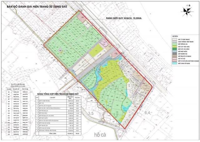 Ranh giới nghiên cứu dự án Khu dân cư phía Tây Nam quốc lộ 1A tại Huế.