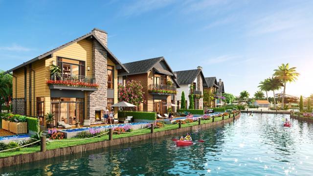 Biệt thự Lagoon đa sắc màu bao bọc bởi những dòng kênh xanh ngắt