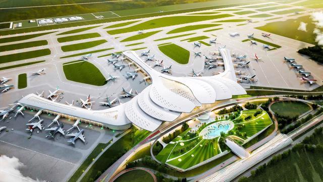 Hạng mục nhà ga hành khách của sân bay Long Thành giai đoạn 1 dự kiến sẽ hoàn thành xây dựng và đưa vào khai thác cuối năm 2025.