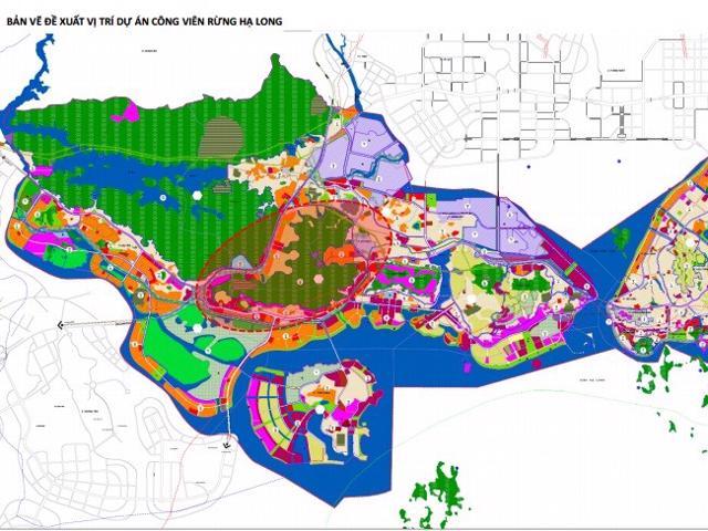 Vị trí đề xuất dự án công viên rừng Hạ Long 650ha của Vingroup.