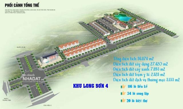 Phối cảnh dự án KĐT Long Sơn 4.