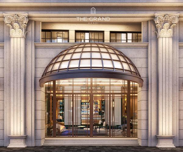 Cổng vào khu căn hộ hàng hiệu Ritz-Carlton.
