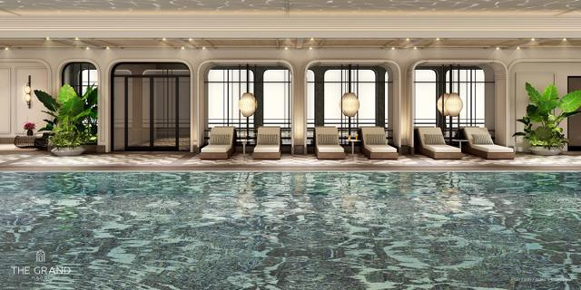 Khu vực hồ bơi Khu căn hộ hàng hiệu Ritz-Carlton.