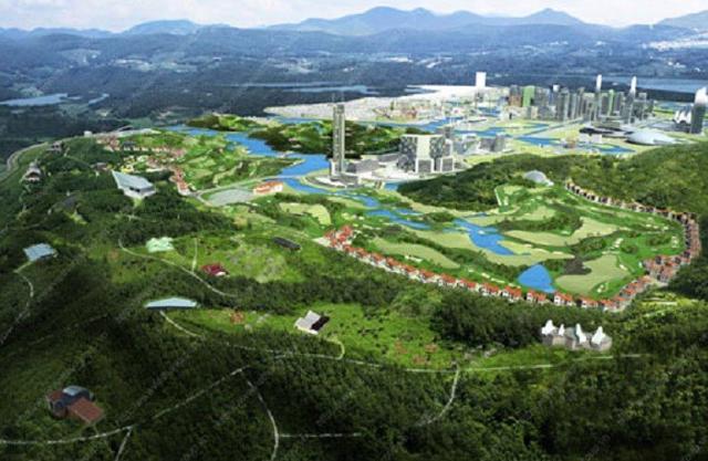 Phối cảnh dự án Khu đô thị sinh thái du lịch nghỉ dưỡng thể thao (Dream City) tại huyện Tam Nông từng được kỳ vọng rất nhiều của Địa ốc Việt Hân.