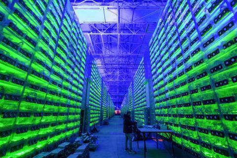 Một trại đào Bitcoin tại Trung Quốc.