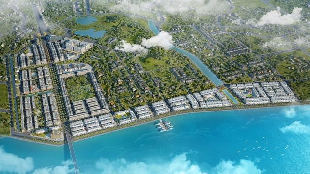Phối cảnh dự án Khu đô thị Tropical City 1.
