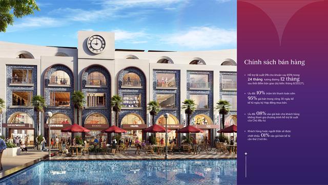 Vega City Nha Trang chiết khấu lên đến 10%, ưu đãi lãi suất 0% trong 24 tháng.
